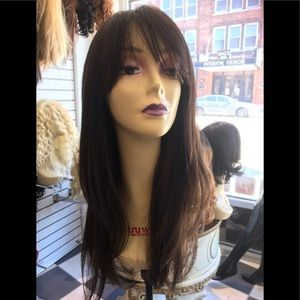 Accessories - Brown Long bangs highlights wig 2019 hairstyle